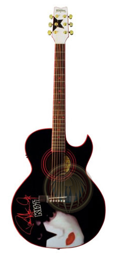 Kiss Washburn painting guitar acoustic miniature