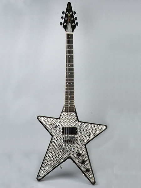 Miniature guitar KIss Metal front star