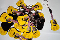 Guitar miniature keyring