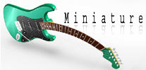 miniature guitar wooden