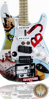 Miniature guitar strat Green Day